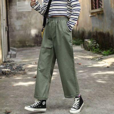 盐系裤子女宽松显瘦直筒裤女秋冬帅气ins潮女穿搭时尚休闲阔腿裤