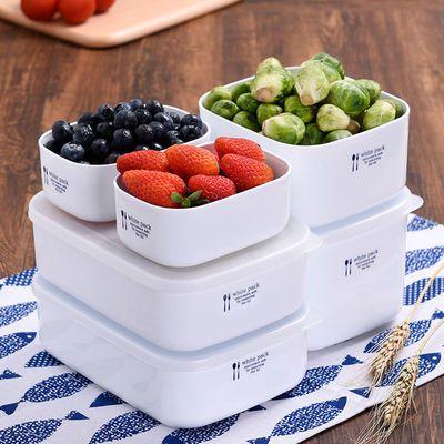 日本进口上班族饭盒微波炉加热便当盒冰箱专用水果收纳塑料保鲜盒
