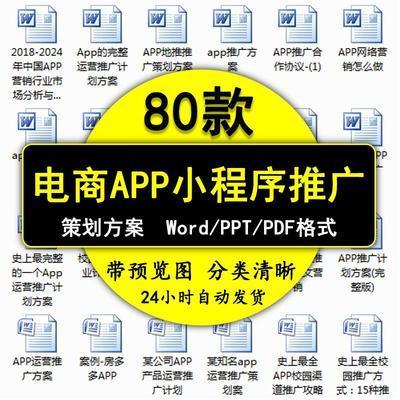 电商手机app小程序市场推广线上营销校园地推策划方案素材模板