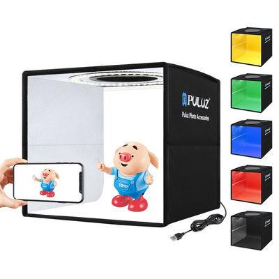25cm LED便携式简易电商拍照室内微型小摄影棚拍摄道具网红灯光箱