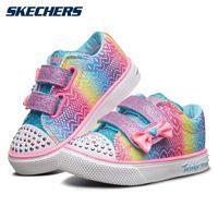 限尺码、百亿补贴:Skechers斯凯奇 女小童 闪灯魔术贴 运动休闲鞋 10928N