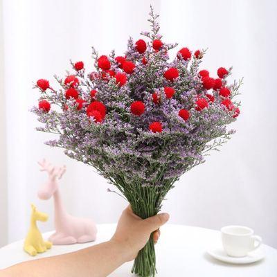 鸿运当头干花云南真花组合花发财果情人草混搭花束家居摆设装饰花