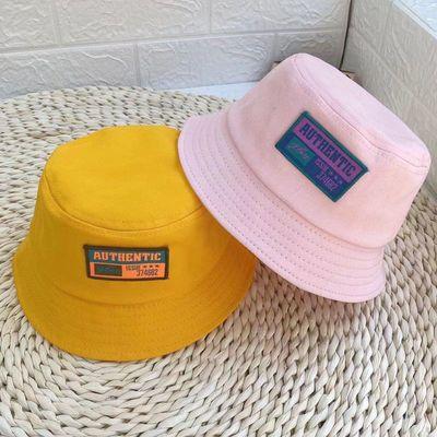新款儿童渔夫帽春秋季男童女童遮阳太阳帽出游防晒盆帽宝宝帽子潮