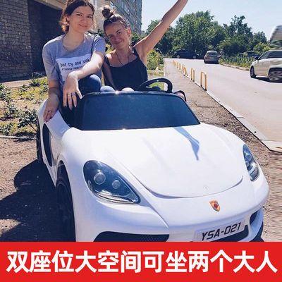 儿童电动汽车可坐大人超大号双人座四轮宝宝遥控玩具车电动