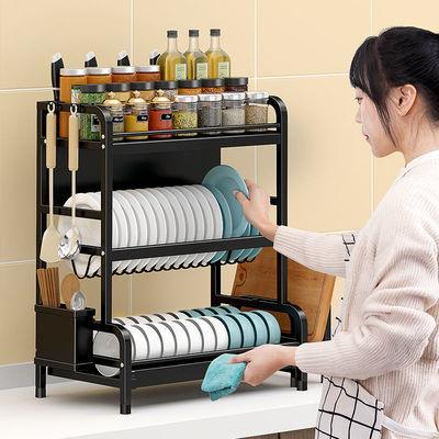 304不锈钢厨房架子置物架碗架沥水架多功能灶台调料架收纳架多层