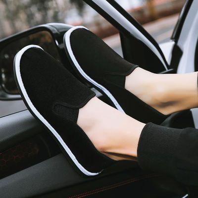 老北京布鞋男春季社会小伙精神运动劳保工作板鞋潮流帆布鞋豆豆鞋