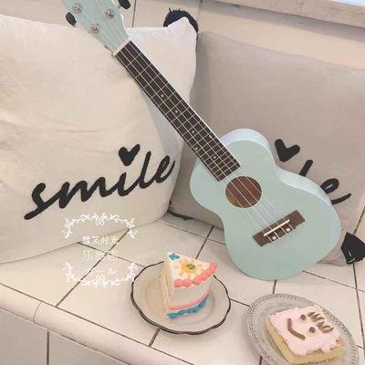 婴儿蓝小清新尤克里里乌克丽丽21寸23寸夏威夷四弦琴初学者小吉他