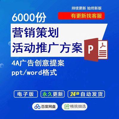 4A广告营销策划项目活动推广方案资料房地产提案PPT模板素材