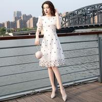晚礼服女2021新款平时可穿名媛宴会气质白色短款年会主持人连衣裙【4月25日发完】