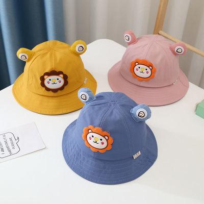 春季宝宝渔夫帽可爱三岁男女儿童盆帽遮阳2021新款幼儿帽子防晒潮