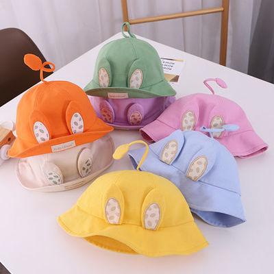 可爱儿童帽子春秋季夏防晒渔夫帽男童遮阳帽女新款防紫外线盆帽潮