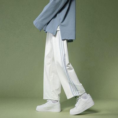 棉运动裤女学生韩版宽松2021春夏新款高腰显瘦百搭哈伦休闲卫裤子