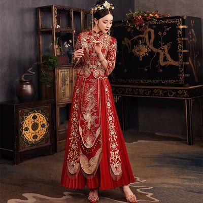 秀禾服2021新款女新娘结婚中式敬酒礼服夏季小个子婚纱显瘦禾