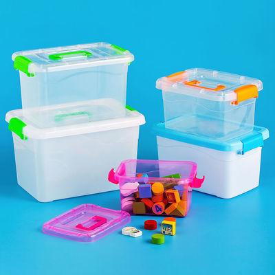 桌面收纳盒子塑料客厅置物盒零食筐杂物整理箱储物盒办公厨房透明