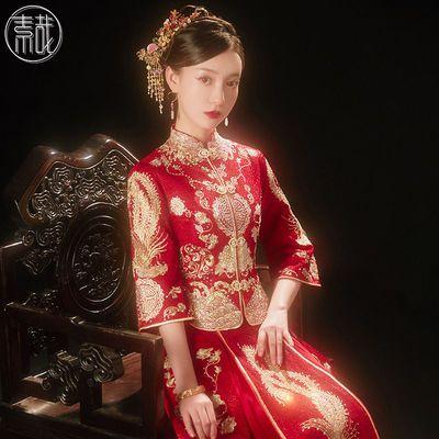 秀禾服2021新款中式婚纱结婚新娘礼服嫁衣小个子夏季显瘦龙凤褂女