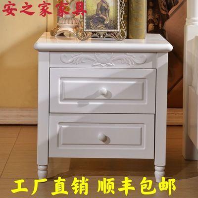 整装美式实木床头柜子特价小型便宜多功能置物架卧室经济型储物柜