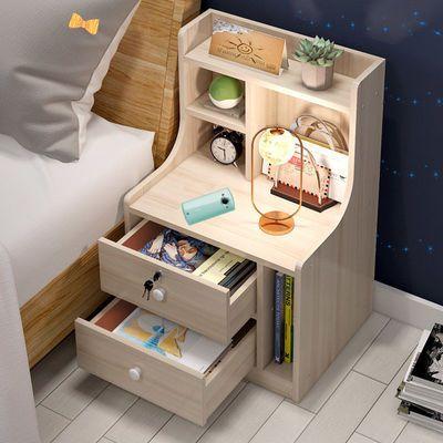 床头柜简约现代置物架卧室收纳储物北欧经济型创意床边小收纳柜子