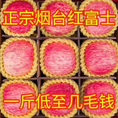 烟台红富士新鲜苹果脆甜多汁正宗当季整箱批发3/5/10斤装特价包邮