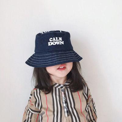 儿童渔夫帽春季新款男童女童时尚遮阳帽潮夏天宝宝防晒太阳帽薄款
