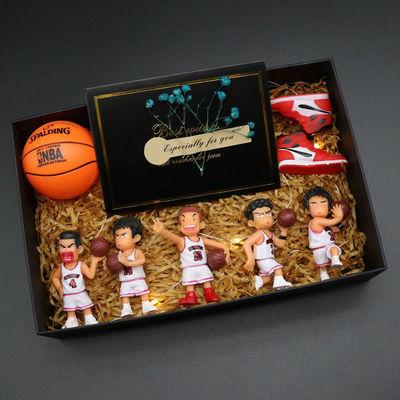 创意灌篮高手钥匙扣礼盒腰挂樱木花道流川枫件链个性简约可爱包包
