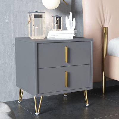 北欧床头柜置物架简约现代床边柜小型储物柜简易卧室白灰色收纳柜