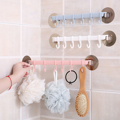 固衡浴室毛巾架粘贴免打孔厨房单杆抹布挂架卫生间加厚毛巾杆置物