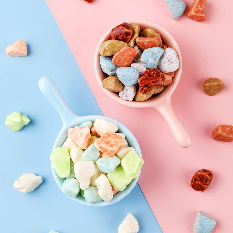 75878-网红石头糖批发儿时怀旧小零食巧克力味多彩奶糖办公休闲食品-详情图