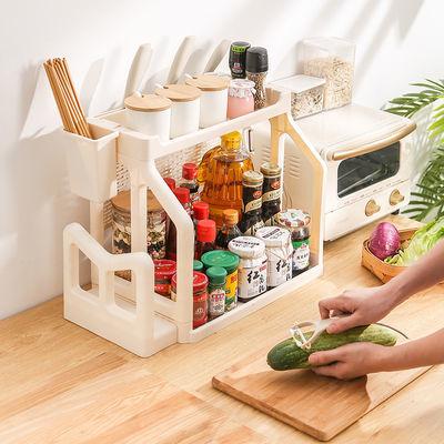 厨房置物架调料调味用品用具家用刀架落地储物多层厨具收纳
