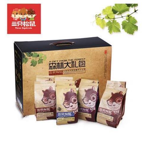 三只松鼠森林大礼包340g/2476g特产干果礼盒坚果组合12袋盒装一箱