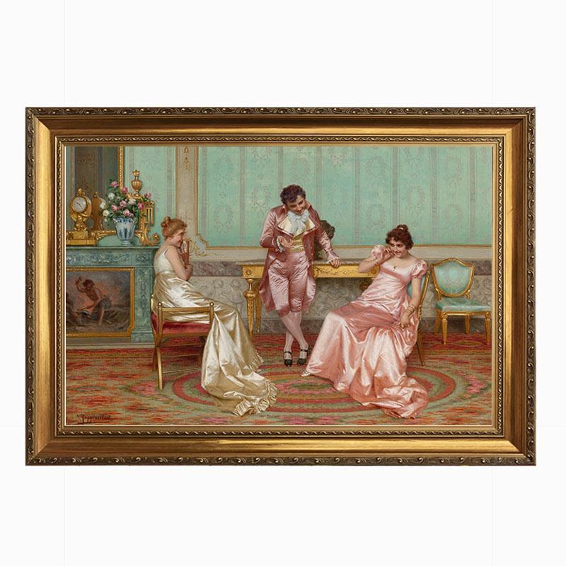 欧式古典宫廷人物人体画装饰油画