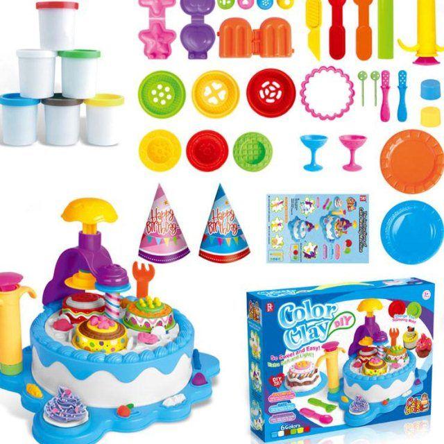 无毒儿童橡皮泥彩泥粘土冰淇淋雪糕面条机玩具套装女孩过家家玩具