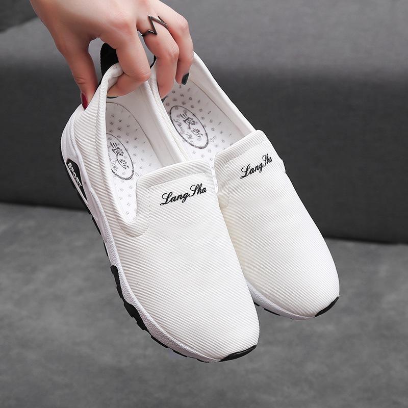 女鞋2019春秋季新款低帮运动鞋韩版帆布鞋跨境鞋女单时尚透气鞋潮