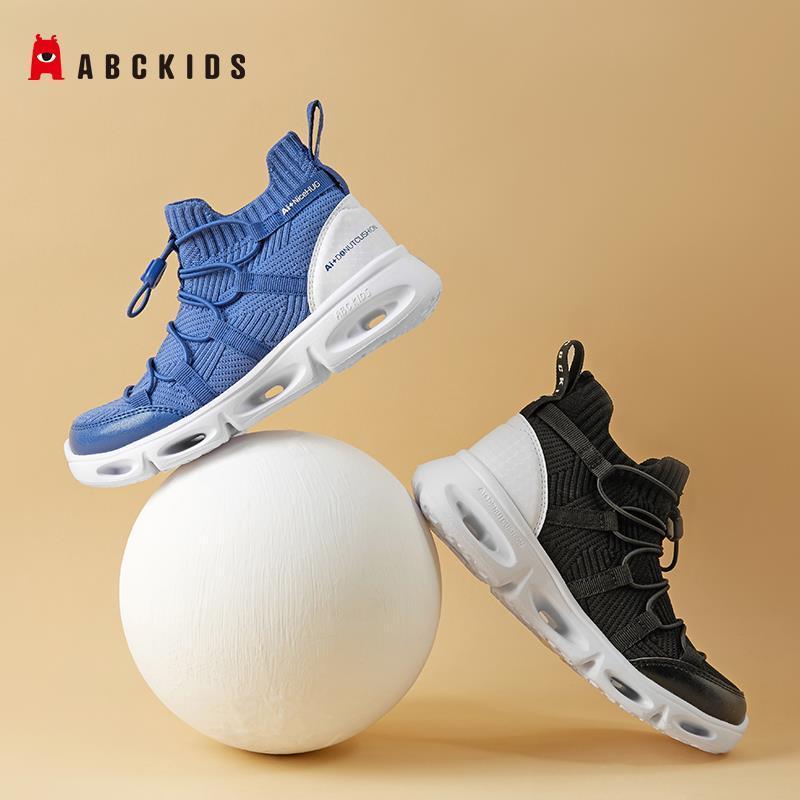 75707-Abckids童鞋 春秋新款男童鞋子中帮网面减震运动鞋中童跑步鞋子-详情图