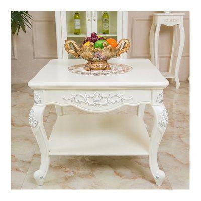 欧式茶几边几角几客厅小茶几法式田园角几咖啡桌雕花