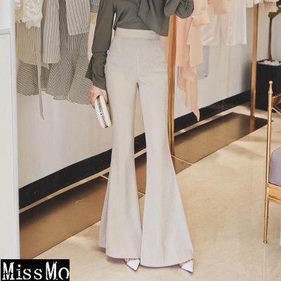 MISS2018冰凉夏季新款女高腰大喇叭裤大长腿长裤韩版百搭修身显瘦