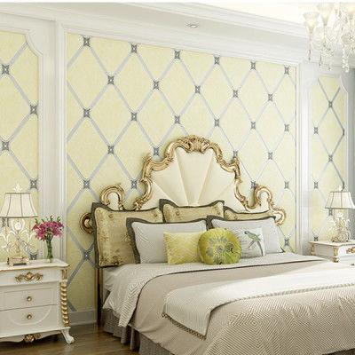 欧式电视沙发背景墙墙纸 3d立体鹿皮绒浮雕卧室客厅无纺布壁纸