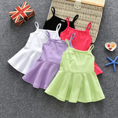 童装女童吊带裙睡衣连衣裙夏季韩版背心裙0-5岁宝宝莱卡棉睡裙