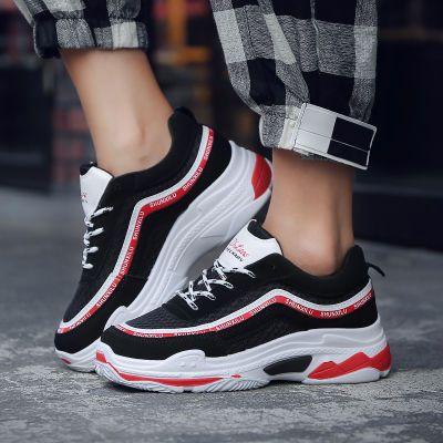 2018春季新款百搭运动鞋女学生跑步鞋韩版旅游鞋休闲透气网面女鞋