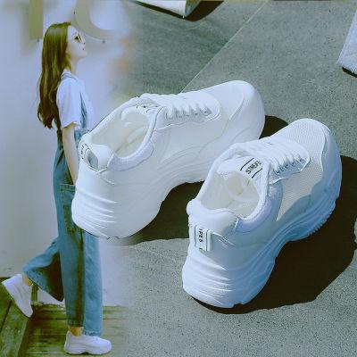 网面运动鞋女夏季镂空单鞋小白鞋学生韩版平底网鞋休闲透气老爹鞋
