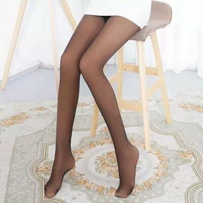 春秋冬款假透肉打底裤无缝一体裤外穿性感光腿神器厚款加绒加厚女