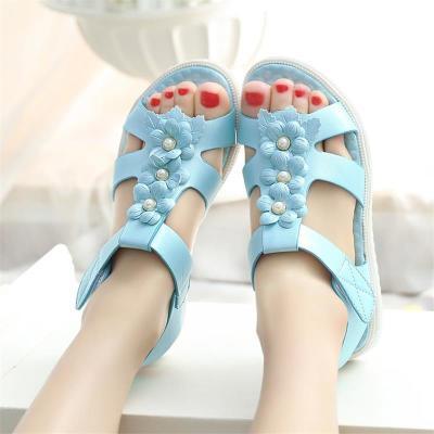 大童女童凉鞋201新款10韩版11夏季9小学生平底1女鞋凉鞋12-1岁童