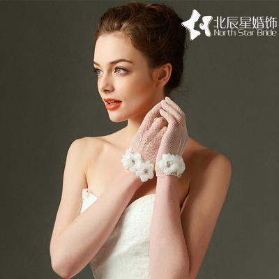 清仓包邮韩式新娘结婚礼短款蕾丝手套婚纱礼服配件饰品手腕花手套