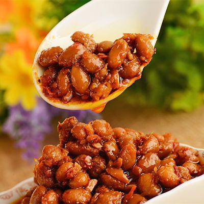 湖北特产香辣腊八豆220g/瓶农家手工自制零食豆瓣酱下饭菜调料酱