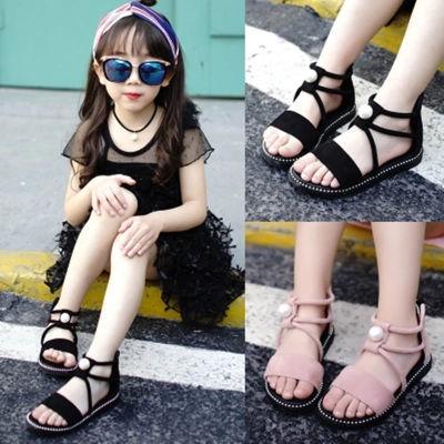 凉鞋女学生韩版平底社会女童洞洞童鞋子男童穿版水晶女凉鞋夏大童