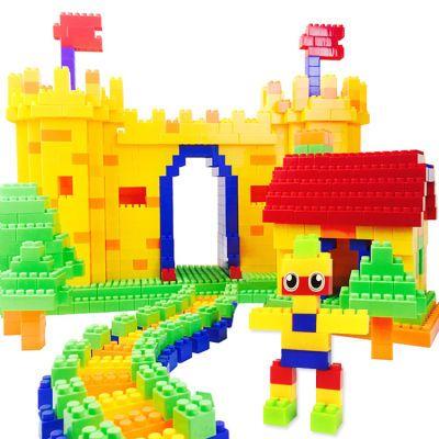 儿童积木玩具塑料拼插积木拼装益智玩具3岁6岁幼儿园小孩宝宝玩具