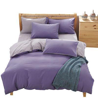 床单被罩单人猫件套夏天床上用品水洗棉粗布卡通被套套公主提花套