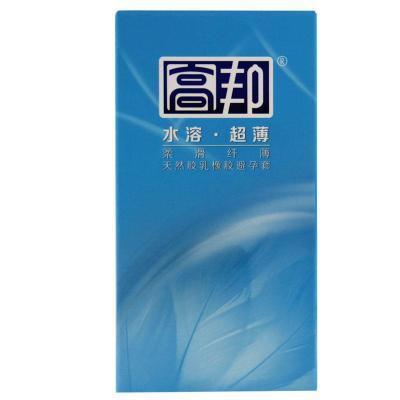 高邦 避孕套 水溶超薄柔滑纤薄 男用套套12只 成人计生用品安全套