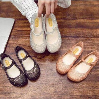 夏季儿童凉鞋鸟巢女童鞋公主百搭凉鞋舒适透气平底镂空软底舞蹈鞋