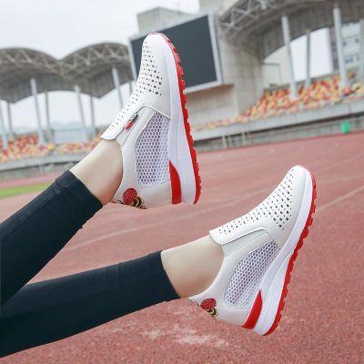 201春夏季韩版新款镂空小白鞋内增高百搭休闲运动鞋透气单鞋女鞋