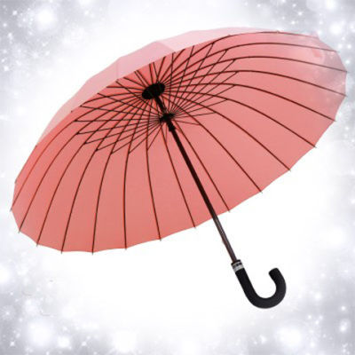 24骨遇水开花长柄超大雨伞双人加固抗风商务男女弯柄伞晴雨两用伞